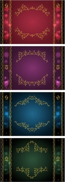 classical gold lace border vector