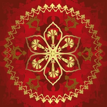 classical gold pattern 03 vector