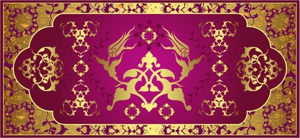 classical gold pattern pattern vector