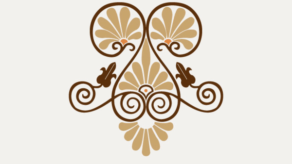 classical greek style ornaments vector