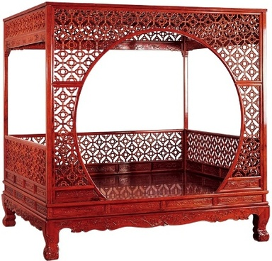 classical mahogany dong bed hd psd