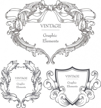 classical ornate pattern vector
