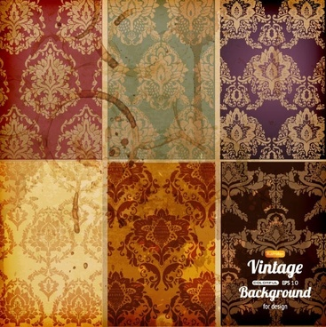 classical pattern background vector