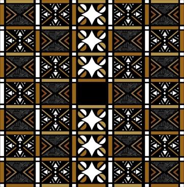 classical pattern design seamless squares decoration