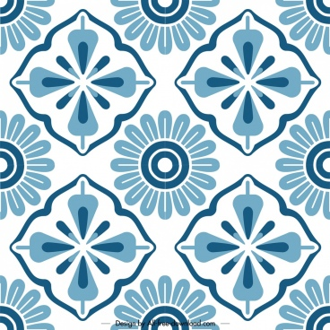classical pattern template flat symmetric decor