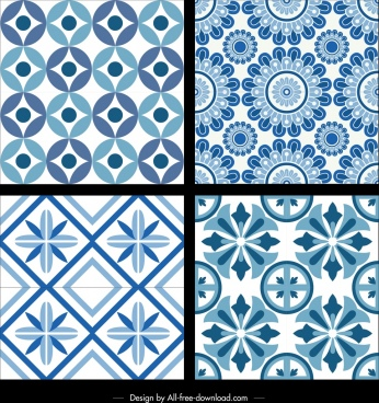 classical pattern templates repeating seamless design flowers icons