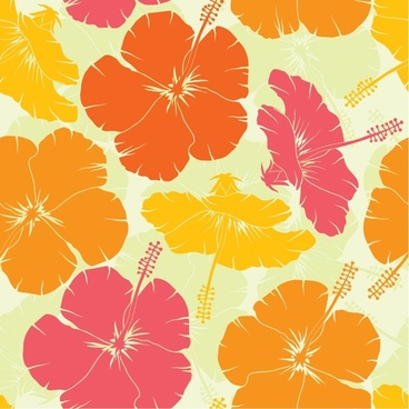 hibiscus pattern multicolored classical decor