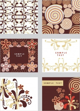 decorative pattern templates retro symmetric repeating emblems