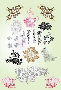 classical pattern vector flowers