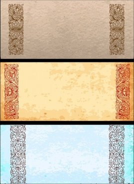 classical pattern vector with the old paper