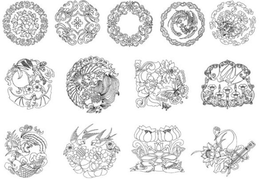 classical patterns vector