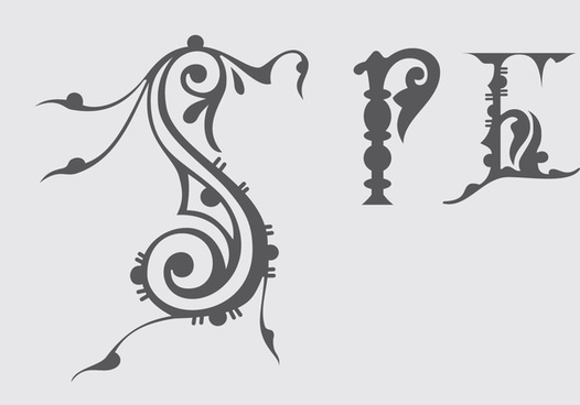 classical russian alphabet vector