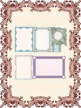 classical security frame floral vector