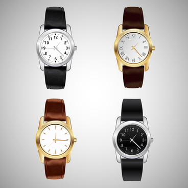 classical watch collection vector illustration