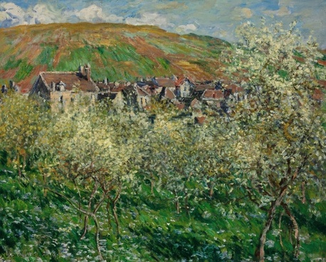 claude monet painting oil on canvas