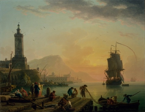 claude vernet painting oil on canvas