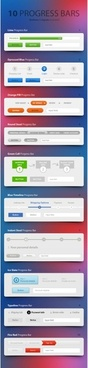 clean and simple page elements psd