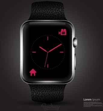 clean mockup design of the apple smartwatch