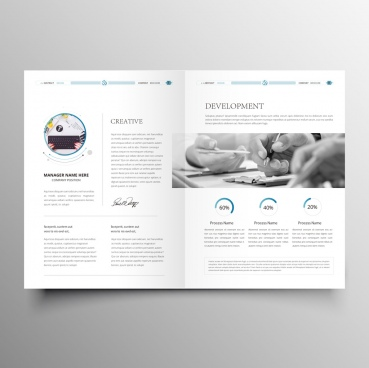 clean modern company brochure template