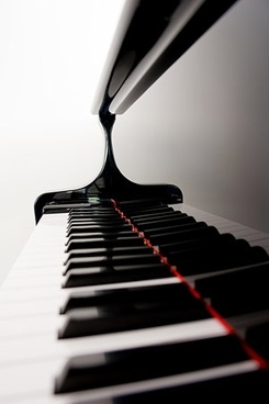 clean piano keyboard picture