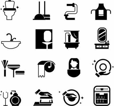 Cleaning icons