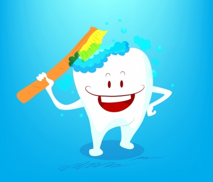 cleaning tooth icon funny stylized design