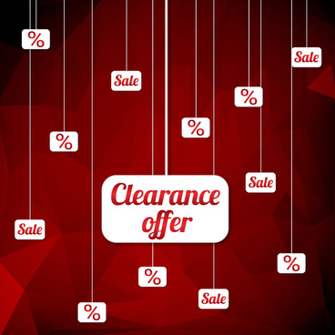 clearance offer design