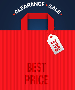 clearance sale bag tags and banner