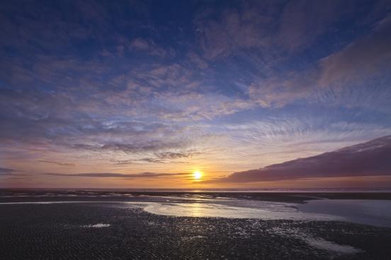 cleveleys beach sunset
