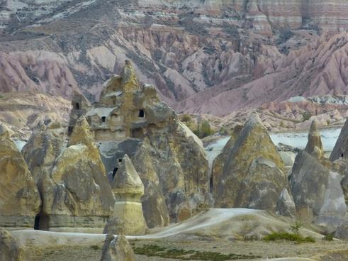 cliff dwellings fairy chimneys tufa