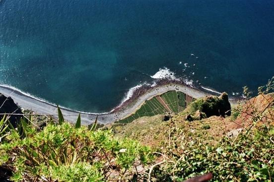 cliff high sea