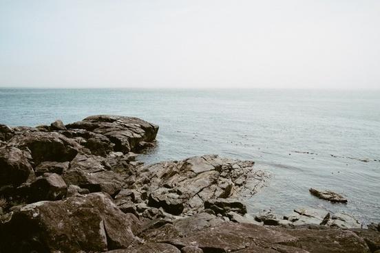 cliff horizon landscape ocean ripple rock sea shore