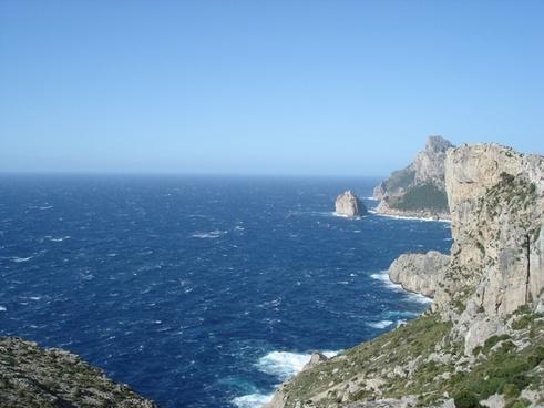cliff rock sea