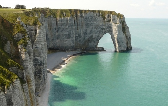 cliffs etretat normandy
