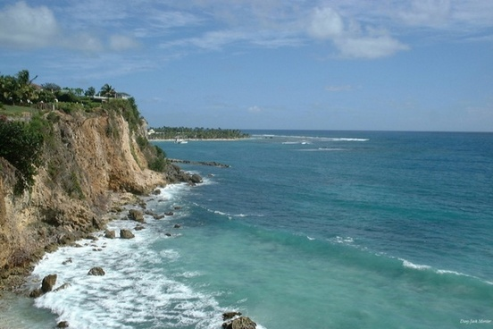 cliffs in guadeloupe