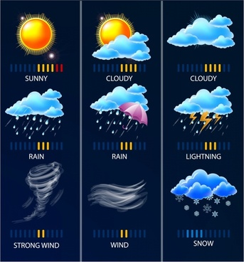 Climate and weather icons