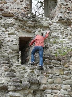 climb castle ruin