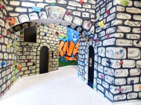 climbing castle climbing hall play castle