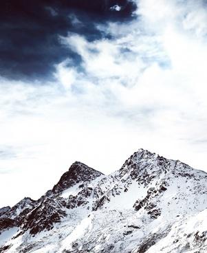 climbing cloud frozen glacier high hiking hill ice