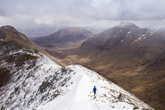 climbing cold daytime glacier hiking hill landscape