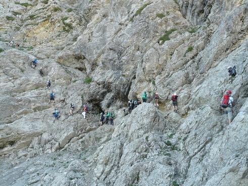 climbing salewa klettersteig climb