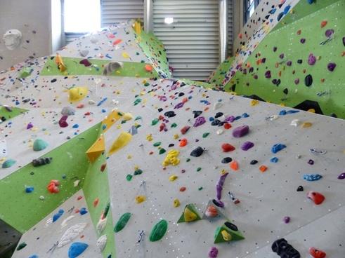 climbing wall climbing hall overhanging