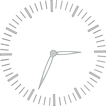 Clock Graduiation Minutes clip art