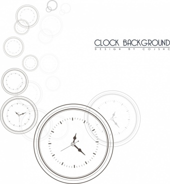 clocks background black white circles draft
