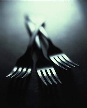 close up cutlery fork metal table utensil