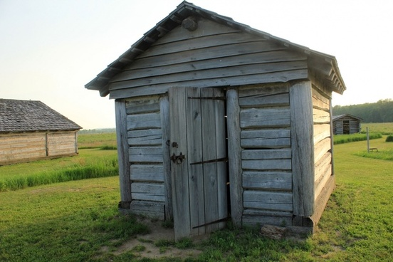 close up of house at prophetstown state park indiana