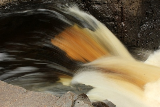 close up of the rapids at cascade river state park minnesota