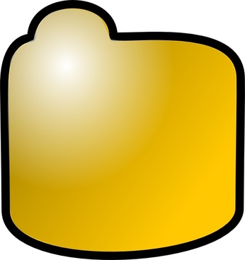 Closed Folder Icon clip art