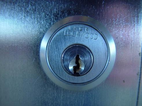 closed key security lock