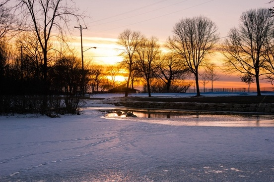 closer view of the sunset at tenney park madison wisconsin